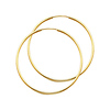 Polished Endless Large Hoop Earrings - 14K Yellow Gold 1.5mm x 1.6 inch