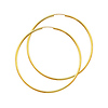 Polished Endless Large Hoop Earrings - 14K Yellow Gold 2mm x 2.16 inch