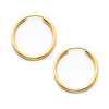 Polished Endless Petite Hoop Earrings - 14K Yellow Gold 2mm x 0.6 inch