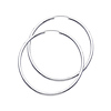 Polished Endless Large Hoop Earrings - 14K White Gold 2mm x 1.8 inch