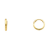Small 14K Yellow Gold Huggies Earrings 2x10mm