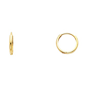 Domed 14K Yellow Gold Huggie Earrings 2mm x 11mm