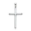 Large Tube Cross Pendant in 14K White Gold - Classic