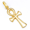 Small Ankh Cross Pendant in 14K Yellow Gold