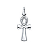 Small Ankh Cross Pendant in 14K White Gold
