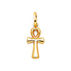 Petite Ankh Pendant in 14K Yellow Gold