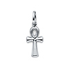 Petite Ankh Pendant in 14K White Gold