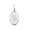 Small Oval 14K White Gold St Christopher Pendant