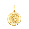 14K Yellow Gold Saint Joseph Pendant