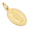 Oval 14K Yellow Gold Lady Of Guadalupe Pendant