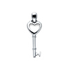 Key to My Heart Pendant in 14K White Gold - Small