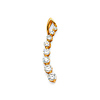 Cubic Zirconia Curve Journey Pendant in 14K Yellow Gold - Small