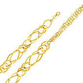 12mm Light 14K Yellow Gold Link Bracelet