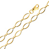 Fancy 4mm Open Link 14K Yellow Gold Bracelet & Lobster Clasp
