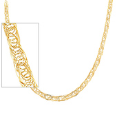 14K Yellow Gold 8mm Flexible Round Wired Necklace