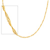 14K Yellow Gold 5mm Flexible Wired Necklace with Lobster Claw Clasp