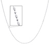 3mm 14K White Gold Fancy Designer Necklace with Spring-ring Clasp