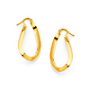 Oval Twist Small Hoop Earrings - 14K Yellow Gold