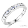 3.5mm Channel-Set Round-Cut CZ Wedding Band in 14K White Gold