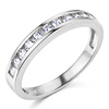 11-Stone Channel-Set Round CZ Wedding Band in 14K White Gold 0.35ctw equiv