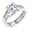 1-CT Princess-Cut CZ Solitaire Engagement Ring Set in 14K White Gold