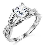 Cubic Zirconia Engagement Rings CZ Ring GoldenMinecom