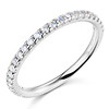 25-Stone Scallop Round-Cut CZ Wedding Band in 14K White Gold