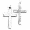 Reversible Lord's Prayer Engraved Large Cross Pendant in Sterling Silver