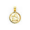 Small 14K Yellow Gold Cherub Angel Charm
