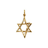 3-D Small Star of David Pendant in 14K Yellow Gold