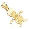 It's a Boy Charm Pendant in 14K Yellow Gold - Petite