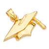 Graduation Cap Charm Pendant in 14K Yellow Gold - Mini