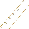 Good Luck CZ Charm Anklet in 14K Yellow Gold - Women