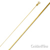 0.6mm 14K Yellow Gold 8-Cut Snake Chain Necklace 16-22in