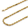 4.5mm 14k Yellow Gold Men's Rope Chain Bracelet 8.5in