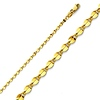 2.2mm 14K Yellow Gold Curved Mirror Chain Necklace 16-24inch