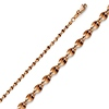 2.2mm 14K Rose Gold Curved Mirror Chain Necklace 16-24inch