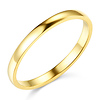 2mm Classic Light Dome Wedding Band - 14K Yellow Gold