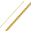 1.7mm 14K Yellow Gold Flat Square Franco Chain Necklace 16-24inch