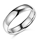 5mm Classic Light Dome Wedding Band - 14K White Gold thumb 0