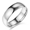 6mm Classic Light Dome Wedding Band - 14K White Gold