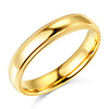 4mm Classic Light Dome Milgrain Wedding Band - 14K Yellow Gold