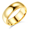 7mm Classic Light Dome Milgrain Men's Wedding Band - 14K Yellow Gold