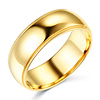8mm Classic Light Dome Milgrain Men's Wedding Band – 14K Yellow Gold