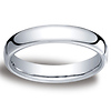 4.5mm Euro Comfort-Fit Flat Classic Wedding Band - 14K, 18K White Gold