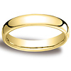 4.5mm Euro Comfort-Fit Flat Classic Wedding Band - 14K, 18K Yellow Gold