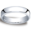 5.5mm Euro Comfort-Fit Flat Classic Wedding Band - 14K, 18K White Gold