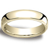 5.5mm Euro Comfort-Fit Flat Classic Wedding Band - 14K, 18K Yellow Gold