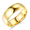 7mm Classic Light Comfort-Fit Dome Men's Wedding Band - 14K Yellow Gold