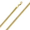 4mm 18K Yellow Gold Men's Miami Cuban Link Chain Necklace 20-30in